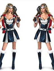 Cosplay Costumes Super Heroes Movie Cosplay Black Patchwork Skirt / Gloves Halloween / Christmas / New Year Female Cotton
