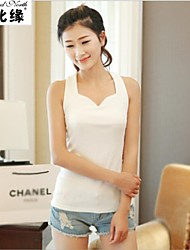 Women's Sexy/Casual/Cute Stretchy Sleeveless Regular Cotton/Organic Cotton)