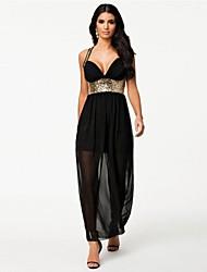 Women's Chiffon Sequin Evening Dress