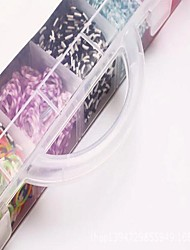 4200pcs Colorful DIY Rainbow Color Loom Style Silicone Band Bracelets 4200pcs Bands ,12 S-clips, 1 Looms ,1Hook+1Box