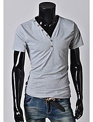 MEN - T-shirt - Informale Scollo a V - Maniche corte Misto cotone