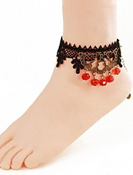 Lace Chain Anklet Decorative Accents for Shoes One Piece