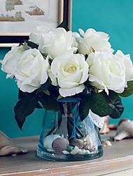 mais sagrado subiu flores artificiais com vaso