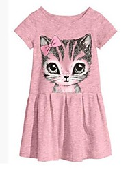 Girl's Beautiful New Cat Printed Dress