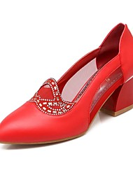 Women's Shoes Chunky Heel Pointed Toe Pumps Shoes with Sparkling Glitter More Colors available