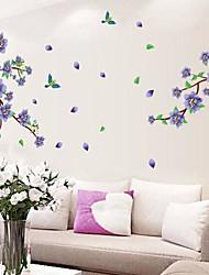 adesivos de parede decalques de parede flores e magpies roxas possuem pvc removível e lavável