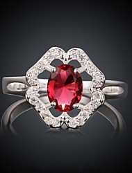 ROMAD Women's 18K Gold-plated Jewelry Inlaid Zircon Fashion Rings