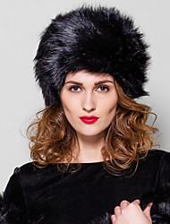 accesorios sombrero de piel sombrero de piel fahion piel de piel sintética (más colores)