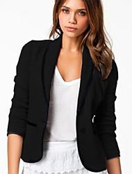 Action Women's Newest New European Slim Thin Lapel Short Type Blazer Coat