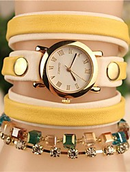 Women's 2015 The Latest Crystal Fashion Leather Japanese Quartz Watch (Assorted Colors) Cool Watches Unique Watches