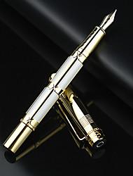 0,5 millimetri bianco classico affari scrittura raffinata penna stilografica oro 10k