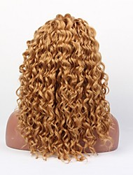 Fashionable Women's Yellow Deep Curly Short Synthetic Wig