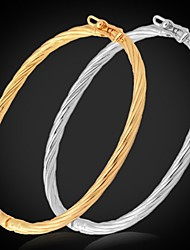 Bracelet Bangles Alloy / Platinum Plated / Gold Plated Wedding / Party / Daily / Casual / Sports Jewelry Gift Gold / Silver,1pc