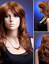 Fashion Natural Big Brown Wavy High Quality Synthetic Hair