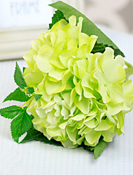 Green Hydrangeas with Bud Artificial Flowers Set 2
