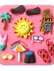 Kokospalme Bikini Sonnen Sammlung Fondantkuchen Formen Seife Schokoladenform für die Küche Back für Kandiszucker