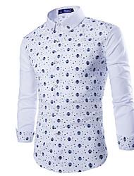HUIZI Men's Fashion  Casual Print Long Sleeve  T-Shirts