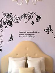 removível de vime flor moda e em forma de borboleta adesivo de parede