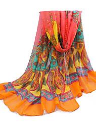 borda laranja vento elegante dia protetor solar longo paris fio lenço das mulheres