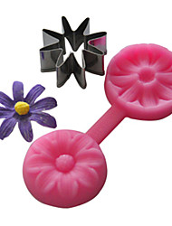 Silicone Cupcake Mold 8 Petals Flower Embossing