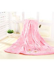 Pink Flower 100% Polyester Carter Brand Supersoft Velboa Baby Blanket/Throw 76*110cm Cozy And Keep Warm