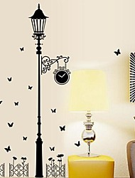 decalques de parede adesivos de parede recurso de luz stree pvc removível lavável