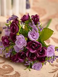 decoración de la boda decoración artificial 45 cabezas de diamante flores color de rosa 1 pieza de plástico / de seda