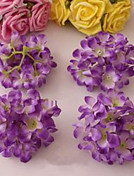 ocho hyfrangeas púrpura oscuro flores decorativas de la boda
