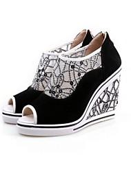 Women's Shoes Calf Hair Wedge Heel Wedges/Peep Toe/Platform/Novelty Sandals Dress More Colors available