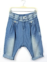 Women's Blue Denim Pant , Beach/Casual/Cute