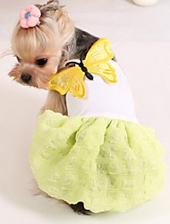 Dog Dress Yellow / Pink Dog Clothes Summer Wedding / Cosplay