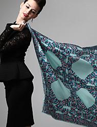 Zizhen print floral ocasional lenço de seda das mulheres