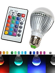 E27 110V 16 Colors Changing 9W magic  RGB LED Lamp Light Bulb + IR Remote Control