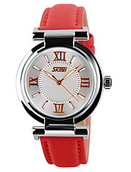 SKMEI® Women's Elegant Roman Numbers Pattern Wristwatch Japanese Quartz Leather Strap Cool Watches Unique Watches
