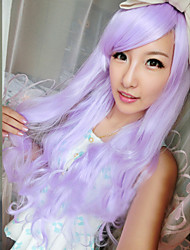New Harajuku Anime Purple Wig Long Curly Hair