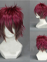 Angelaicos Unisex Sakamaki Ayato Diabolik Lovers Boys Short Layered Red Gradient Halloween Party Costume Cosplay Wigs