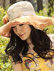 Mujer Sombrero Floppy Casual - Verano - Lino
