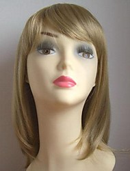 Pale golden long straight hair wig