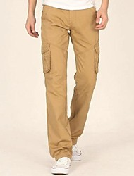 Men's Casual Long Straight Cargo Pants