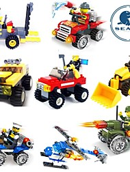 SLK 14set/lot 3D Bluiding Blocks Airplane Car spaceship Fighter Model Learning Toys for Kids