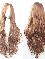 Cosplay Brown Fashion Must-have Girl High Quality Long Curly Hair Wig