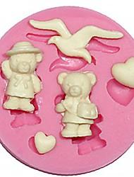 gâteau en silicone moule à cake ours moule en silicone fondant décoration mouette moule en silicone de forme arts de chocolat&artisanat