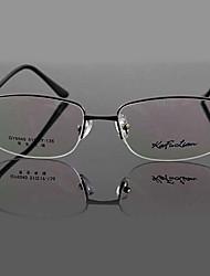 [Free Lenses] Metal Rectangle Half-Rim Classic Prescription Eyeglasses