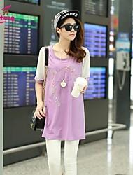 RanSheng Women's Beach/Casual/Cute Micro-elastic Short Sleeve Above Knee Maternity Dress