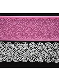 quatre c couleur pad gâteau dentelle coeur de tapis en silicone gaufré moule de fondant au décor rose