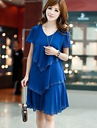 Women's Korean Cultivating Chiffon Dress (Chiffon)