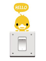 Switch Wall Stickers Wall Decals, Cartoon Duck PVC Switch Sticker