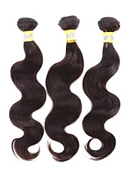 "3Pcs/Lot 8""-30"" Brazilian Virgin Hair Natural Black Unprocessed Human Hair Body Wave Free Shipping"