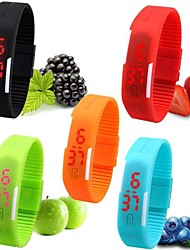 Women's Watch Unisex Men's Digital Bracelet Sport Candy Color Wrist Watch Waterproof Dive LED Jelly Dress Clock Cool Watch Unique Watch Fashion Watch