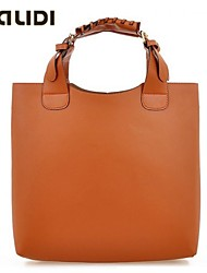 Falidi Women'S Retro Simulation Leather Handbag Shopping Bag Large Bag